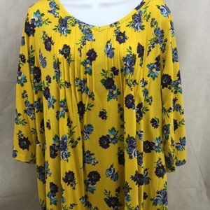 Woman Within Womens Tunic Top Multicolor Floral 16